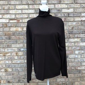 Terry Lewis chocolate brown sweater, Sz L, NWT